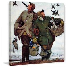 Marmont Hill Nothing but Decoys by Mead Schaeffer Painting Print on Canvas, Size: 48 inch x 48 inch, Multicolor