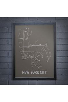 New York City line poster.