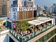Conveniently located in central Bangkok, Novotel Bangkok Sukhumvit 20 offers modern and contemporary rooms with free WiFi access. The hotel features 244 rooms and an outdoor pool on the floor. Bangkok Hotel, Bangkok Thailand, Bangkok Shopping, Bangkok Travel, Outdoor Restaurant, House Restaurant, Best Travel Sites, Thai Travel