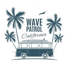 Find Vintage Retro Surf Van Palms Gull stock images in HD and millions of other royalty-free stock photos, illustrations and vectors in the Shutterstock collection. Art Et Illustration, Illustrations, Business Illustration, Vans Vintage, Retro Vintage, Vans Surf, Vw Beach, Surf Logo, Retro Surf