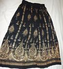 WOMEN SKIRT INDIAN GYPSY BOHO PEASANT BOLLYWOOD DANCE SEQUINS MAXI