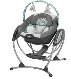 Graco Glider LX Gliding Swing in Affinia is a unique gliding swing that soothes with the same gentle motion you use when cuddling and comforting baby in your nursery glider. Baby Swing Seat, Baby Swings, Baby Car Seats, Infant Swing, Newborn Swing, The Babys, Baby Needs, Baby Love, Baby Items For Sale