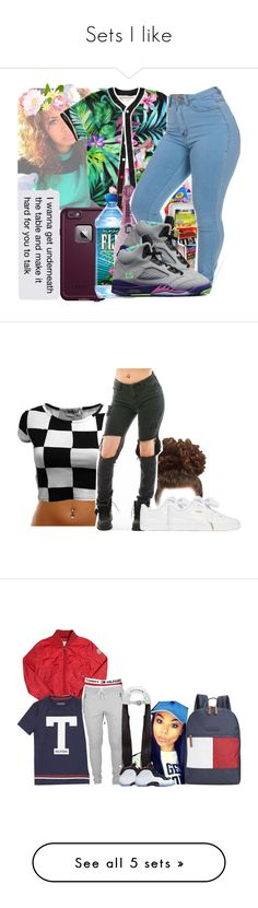"""""""Sets I like"""" by anonymous161 ❤ liked on Polyvore featuring LifeProof, Puma, Moncler, Tommy Hilfiger, NIKE, MICHAEL Michael Kors, Thom Browne, Adrienne Landau, MAC Cosmetics and Forever 21"""