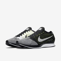 2057a012a5afd Nike Flyknit Racer Black White Volt Men s Running Shoes Sizes 526628 011