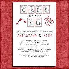 Total Geek Chic Couples Wedding Shower  4x6 by PuzzlePrints, $13.00