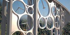 Francesco Colarossi, Giovanna Saracino, Luisa Saracino - The solar Wind  Prototype, projet en cours d'études. Ce viaduc contiendrai des turbines (énergie éolienne), panneaux photovoltaïques (énergie solaire),...
