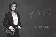 Kristen Stewart shows off her trademark disheveled tresses in the 11.12 Chanel handbag ad campaign.