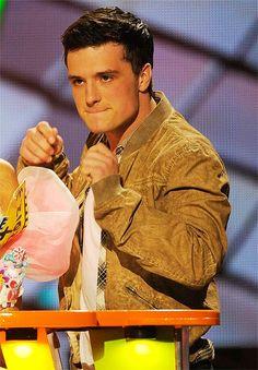 Josh eats his beautiful lips. Don't do that, Josh.
