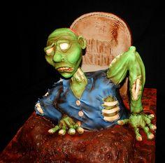 Zombie Birthday Cake  #Zombie #Zombies