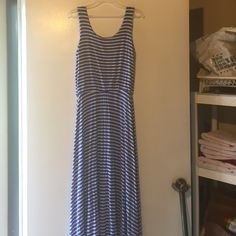 Maxi Dress Blue and white striped petite large maxi dress.  Great for summer! reneeC Dresses Maxi