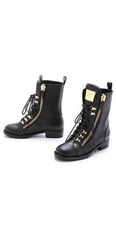 Giuseppe Zanotti Zipper Combat Boots | SHOPBOP