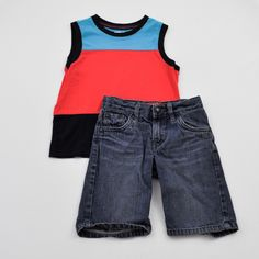 It's play time // Boys 4T Tank with Shorts - Crazy 8 with Levi's - Click to see the whole 14 piece lot!