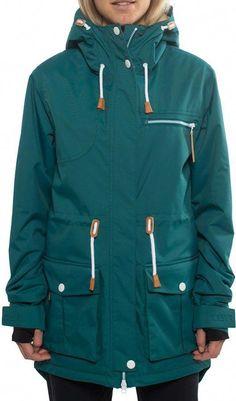 301157a0da9ed6 CLWR Colour Wear Up Parka Women's #snowboard Jacket, L, Bottle Green  Snowboarding Outfit