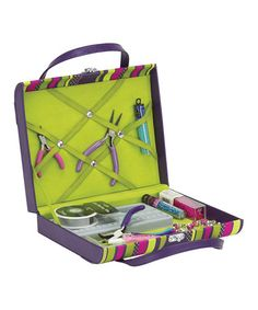 Take a look at this Purple & Green Jeweler's Briefcase by Creative Options on #zulily today!