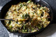 broccoli, cheddar and wild rice casserole