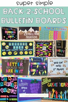 I'm loving these simple but cute back to school bulletin boards! Counseling Bulletin Boards, Elementary Bulletin Boards, Creative Bulletin Boards, Teacher Bulletin Boards, Back To School Bulletin Boards, Back To School Activities, Writing Activities, School Ideas, Teaching Resources