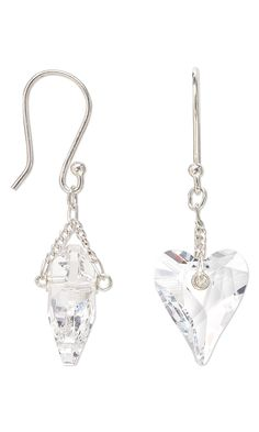 Jewelry Design - Earrings with Swarovski Crystal Drops and Sterling Silver Chain - Fire Mountain Gems and Beads