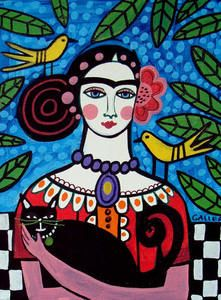 Black Cat Frida Kahlo