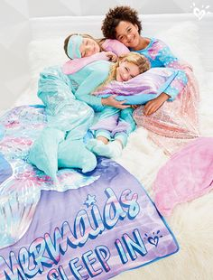 Mermaids like to sleep in (and sometimes they snuggle)!
