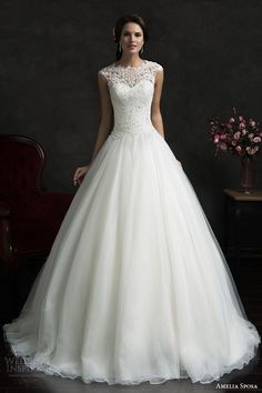 Cheap a-line wedding dress, Buy Quality wedding dress directly from China vestidos de novia Suppliers: Robe de Mariage 2016 Cap Sleeves A-Line Wedding Dresses with Beads Lace Applique Top Bridal Gowns Bridal Gowns Vestido De Novia 2015 Wedding Dresses, Wedding Attire, Bridal Dresses, Wedding Gowns, Bridesmaid Dresses, Lace Wedding, Prom Dresses, Wedding 2015, Mermaid Wedding