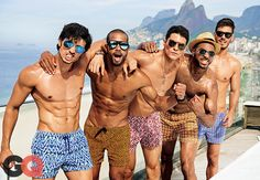 Some Thoughts about Pool Party Outfits : Pool Party Outfits For Men. Pool party outfits for men. Hot Men, Pool Party Outfits, Summer Outfits, Hot Beach, Mens Fashion Suits, Men's Fashion, Man Swimming, Swim Trunks, Menswear