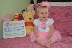 Our birthday girl :)  Here is a sample picture of one of the pictures featured in the clothesline decoration.