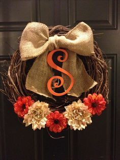 DIY fall wreath...could change up to use for summer or spring too