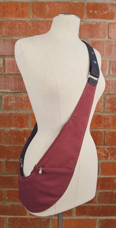 NEW! Sparkle Denim and Cranberry Reversible Cloth Sash Bag - THIS IS THE ONE I WANT!