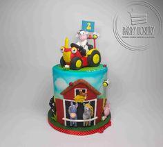 Tractor Tom - cake by Barbora Cetkovská - Bářiny dortíky Tractor Tom, Cakes For Boys, Boy Cakes, Farm Cake, Tractors, Cake Decorating, Toms, Baby, Birthday Cake