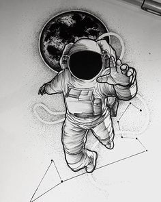 love this astronaut & constellation