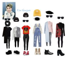 """BTS inspired outfits- Kim Namjoon"" by kj101 ❤ liked on Polyvore featuring beauty, Gucci, Balmain, MASNADA, Maze, Misha Nonoo, Étoile Isabel Marant, Frame, Moschino and Tufi Duek"