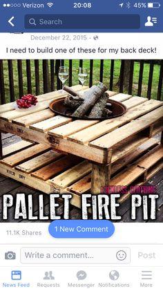 Pallet fire pit