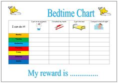 Children's Bedtime Reward Chart with Smiley Face Stickers (Kids Bedroom) Reward Chart Template, Printable Reward Charts, Chore Charts, Potty Charts, Rewards Chart, Goal Charts, Free Printable, Bedtime Chart, Bedtime Routine Chart