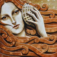Matteo Arfanotti Colors Name In English, Mermaid Illustration, Seashell Painting, Texture Design, Figurative Art, Art Tutorials, Art Boards, Contemporary Art, Lion Sculpture