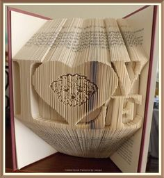 Love Lhasa Cut and Fold Book Folding Pattern by JHBookFoldPatterns on Etsy