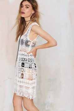Nasty Gal Look Back Crochet Dress