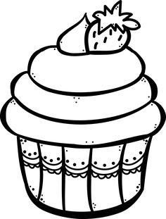 Cupcake para colorear