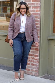 Plus Size Boyfriend Jeans - Plus Size Fashion for Women - Beauticurve