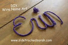 DIY Wire Name Art