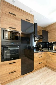 Modern Kitchen Cabinets Ideas to Get More Inspiration Dish Black Kitchen Cabinets cabinets Dish ideas Inspiration kitchen Modern modernkitchencabinet Modern Kitchen Cabinets, Modern Kitchen Design, Interior Design Kitchen, Kitchen Designs, High Gloss Kitchen Cabinets, Interior Modern, Interior Ideas, Modern Decor, Modern Design