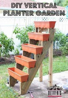 Complete Guide to DIY Vertical Planter Garden. This is for the limited garden space yard.