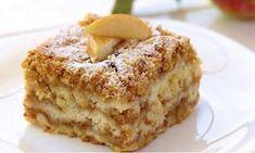 Strúhaný koláč s tvarohom a jablkami – snadnepecivo