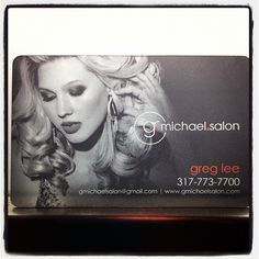Super Cool Business Cards from G Michael Salon in Indianapolis. Best, Indianapolis, Hair, Salons, G Michael Salon, Noblesville, Celebrity, HAIR, Beauty, Haircuts, Top, Carmel, Indiana, Indy, Indiana, Top, Waxing, Brazilian Keratin, Hair Extensions, J Beverly Hills, Hairstyling, Hair Stylist, Hairstylist, Hairstylists, Indianapolis, BEST, Schwarzkopf, Hair Color, Vidal Sassoon, Aveda Trained, Celebrity Hair Stylist Trained, g.michael.salon, Fishers, Noblesville, Zionsville, IN, Carmel…