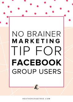 This 2-minute tip is totally worth doing! (especially for Facebook group users!)