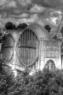 Brunel's Prince Albert Bridge across the Tamar, Saltash Plymouth England, Isambard Kingdom Brunel, Beryl Cook, Old Lorries, Devon And Cornwall, British Rail, Train Pictures, Prince Albert, Water Tower