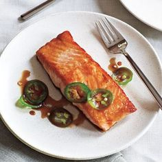 Seared Salmon with Jalape�o Ponzu **High Protein/Low Carb Recipe via @SparkPeople