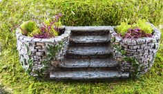 Miniature Fairy Garden Staircase with Planters