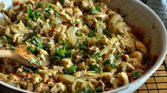 Pui cu ceapa la tigaie, facut cu carne fiarta din supa Fried Rice, Fries, Ethnic Recipes, Food, Essen, Meals, Nasi Goreng, Yemek, Stir Fry Rice