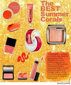 Top 10 Coral Cosmetics for Summer! #PrimeBeauty #bareMInerals #TooFaced #Hourglass #josiemaran