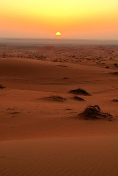 desert sunset by Saud Alrshiad, via 500px